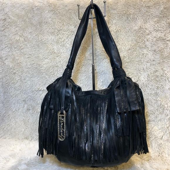 b. makowsky Bags   B Makowsky Black Glove Leather Fringe Erin ... 335eace65f